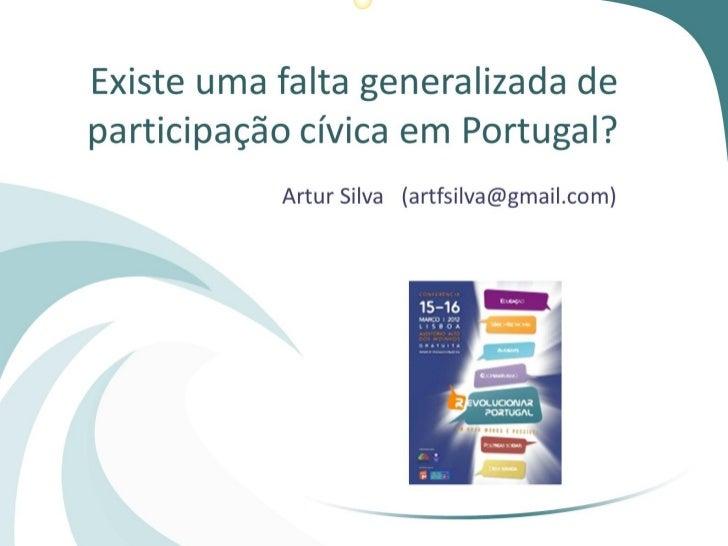 Participação cívica em portugal afs  15_03_2012