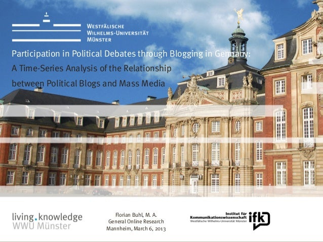 Participation in political debates through blogging