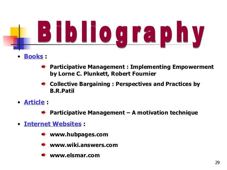 Term paper on participative management
