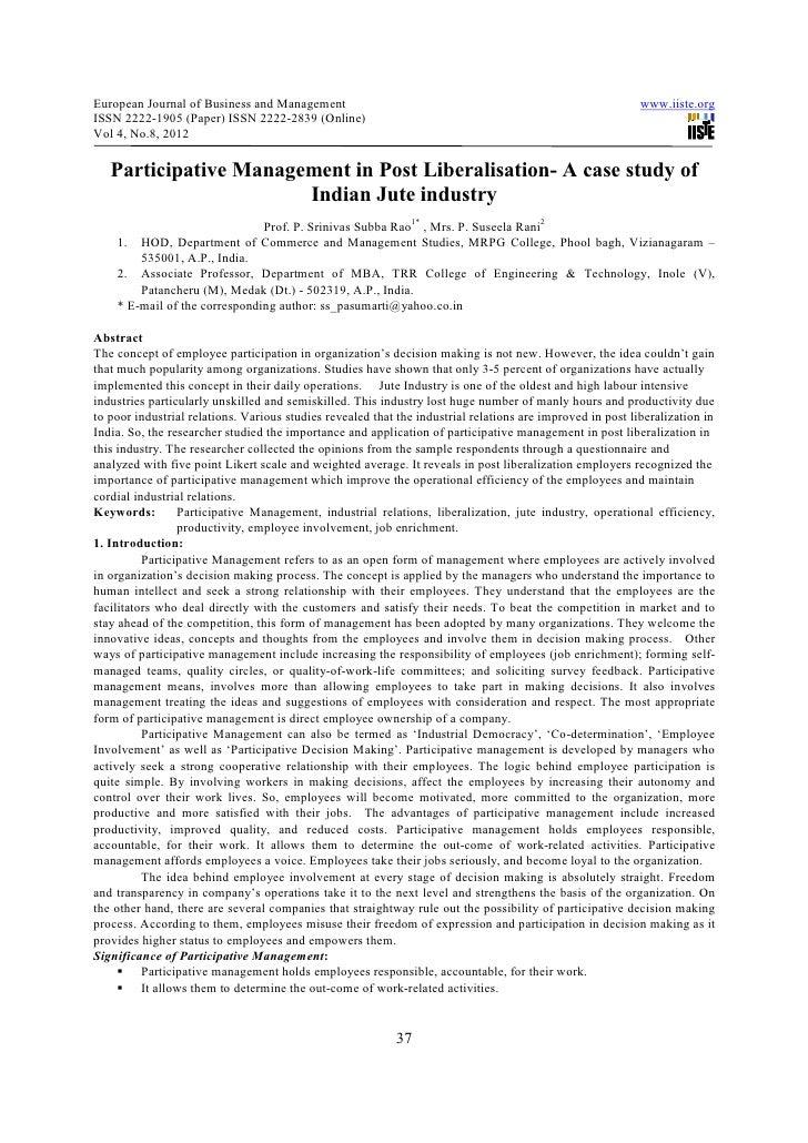 European Journal of Business and Management                                                                 www.iiste.orgI...
