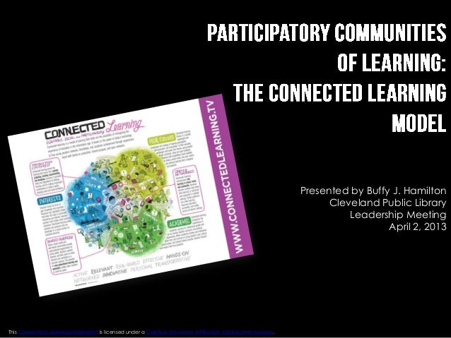 Participatory Communities of Learning---The Connected Learning Model