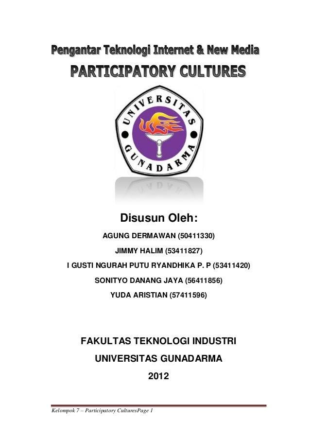 Participatory culture kelompok 7 yuda