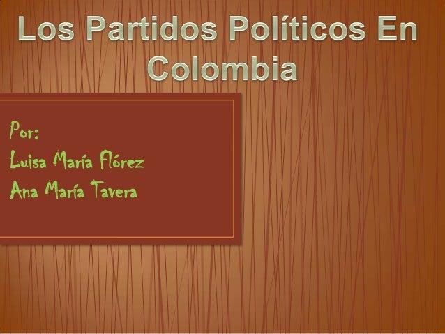 LEY DE PARTIDOS EN COLOMBIA