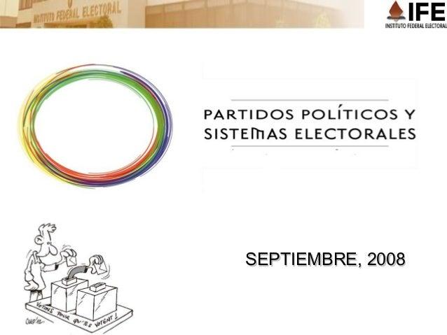 Partidos politicos y sistemas electorales