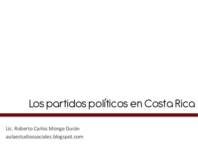Partidos políticos en Costa Rica