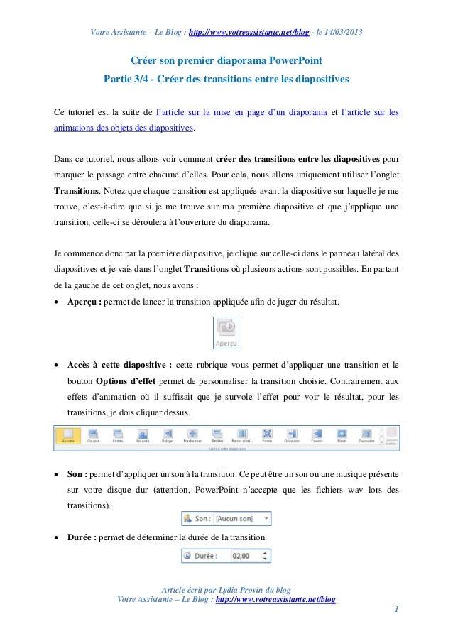 Votre Assistante – Le Blog : http://www.votreassistante.net/blog - le 14/03/2013 Article écrit par Lydia Provin du blog Vo...