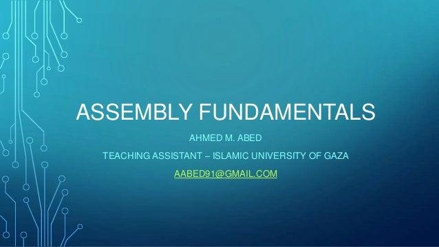 Part II: Assembly Fundamentals