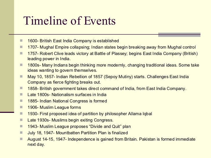 historical event of india Indian history timeline comprising of chronological presentation of facts and events from ancient india to modern india.