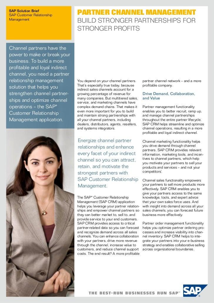 SAP Solution BriefSAP Customer Relationship       Partner Channel ManagementManagement                                Buil...
