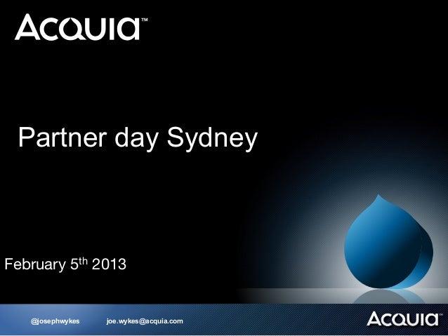 Partner Day at DrupalCon Sydney