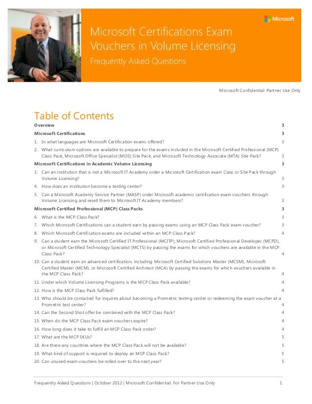 Microsoft Confidential: Partner Use Only  Table of Contents Overview  3  Microsoft Certifications  3  1. In what languages...