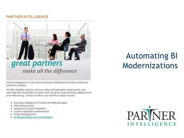 Automated BI Modernizations