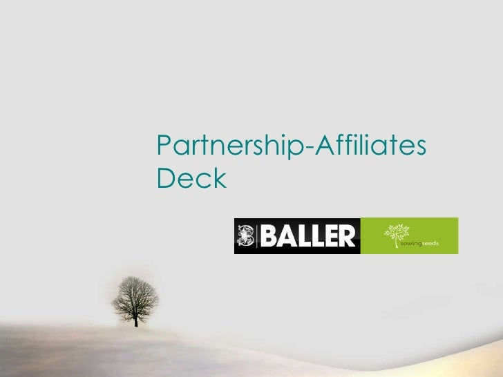 Partnership-Affiliates Deck
