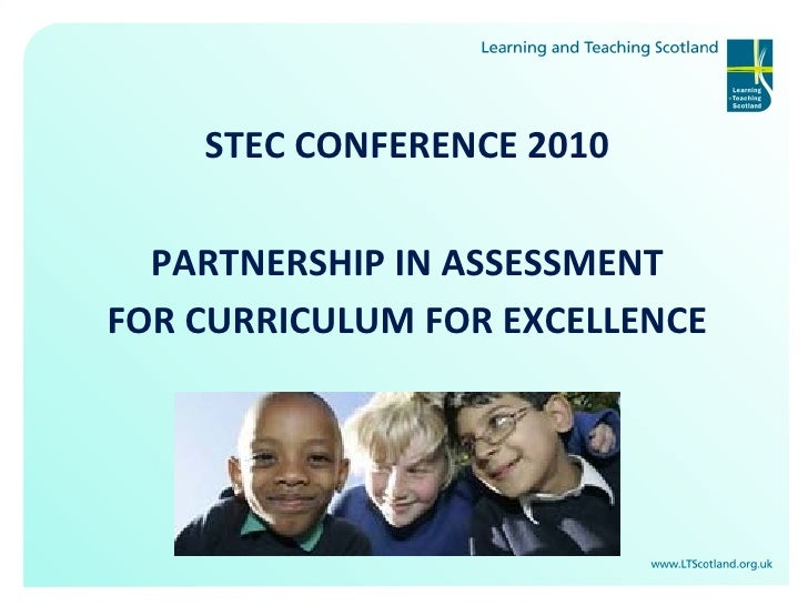 Partnership in Assessment for Curriculum for Excllence