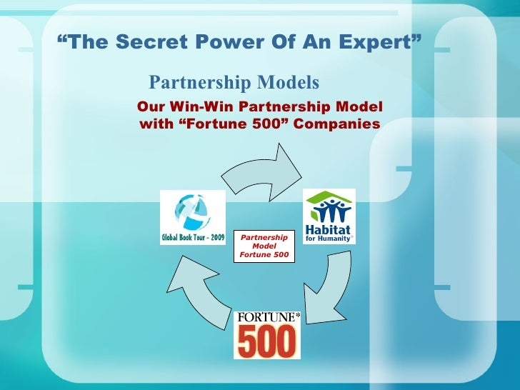 "Our Win-Win Partnership Model with ""Fortune 500"" Companies "" The Secret Power Of An Expert"" Partnership Models Partnership..."