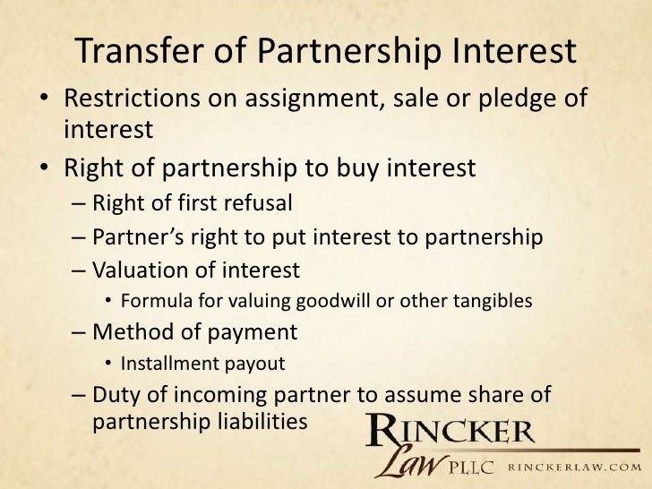 Assignment of partnership interest