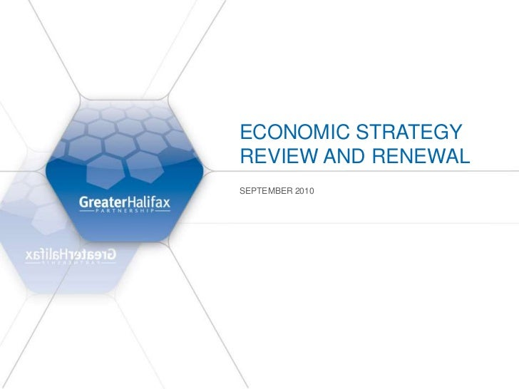Halifax Economic Review and Renewal - September 2010