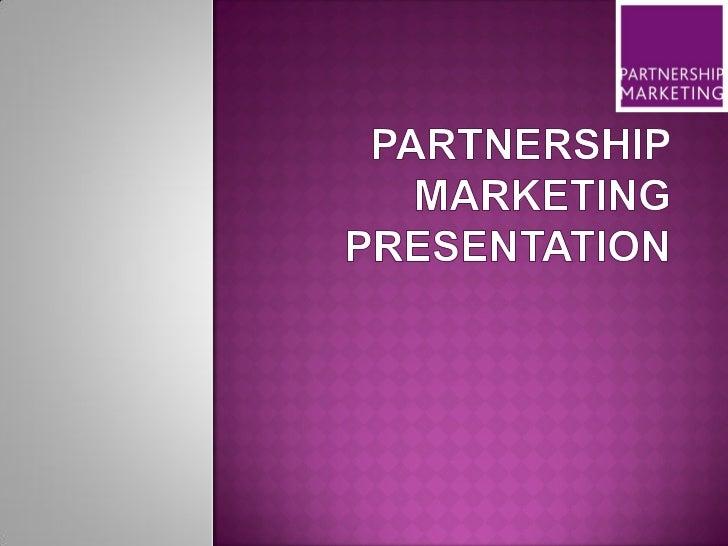 Partnership Marketing Business Presentation