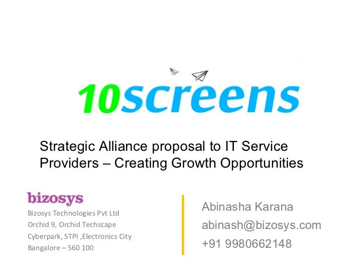 Strategic Alliance proposal to IT Service Providers – Creating Growth Opportunities