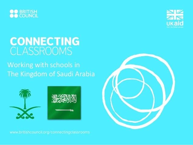 Working with schools in The Kingdom of Saudi Arabia