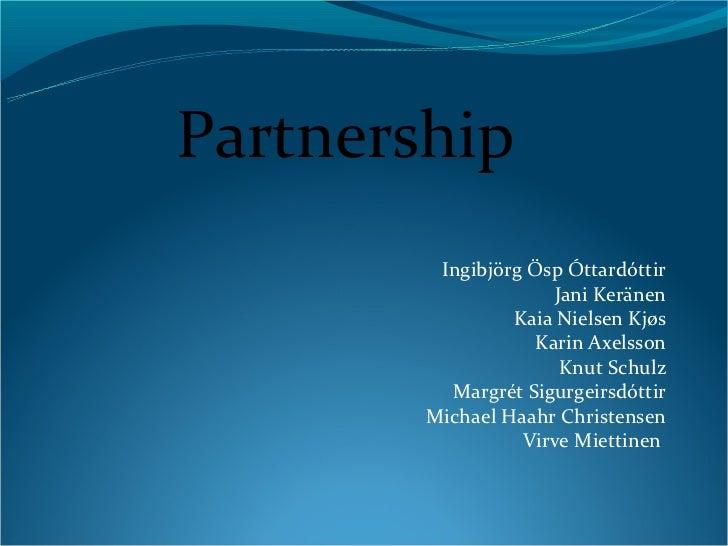 Partnerships pecha kucha