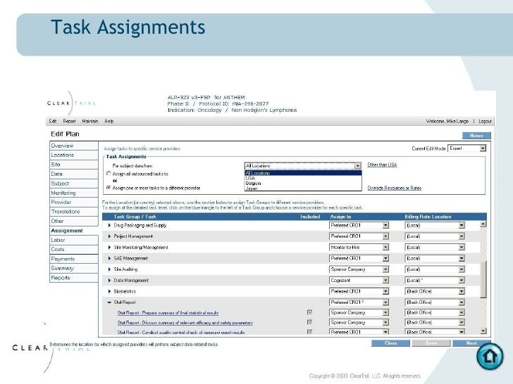 Outsourcing assignments