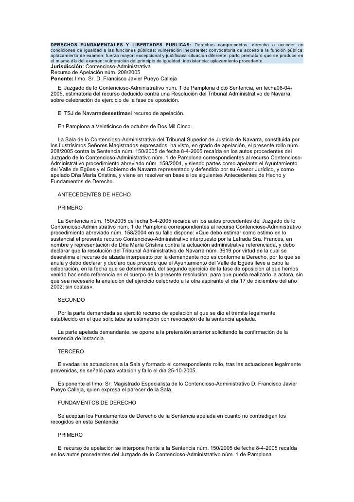 DERECHOS FUNDAMENTALES Y LIBERTADES PUBLICAS: Derechos comprendidos: derecho a acceder en condiciones de igualdad a las fu...