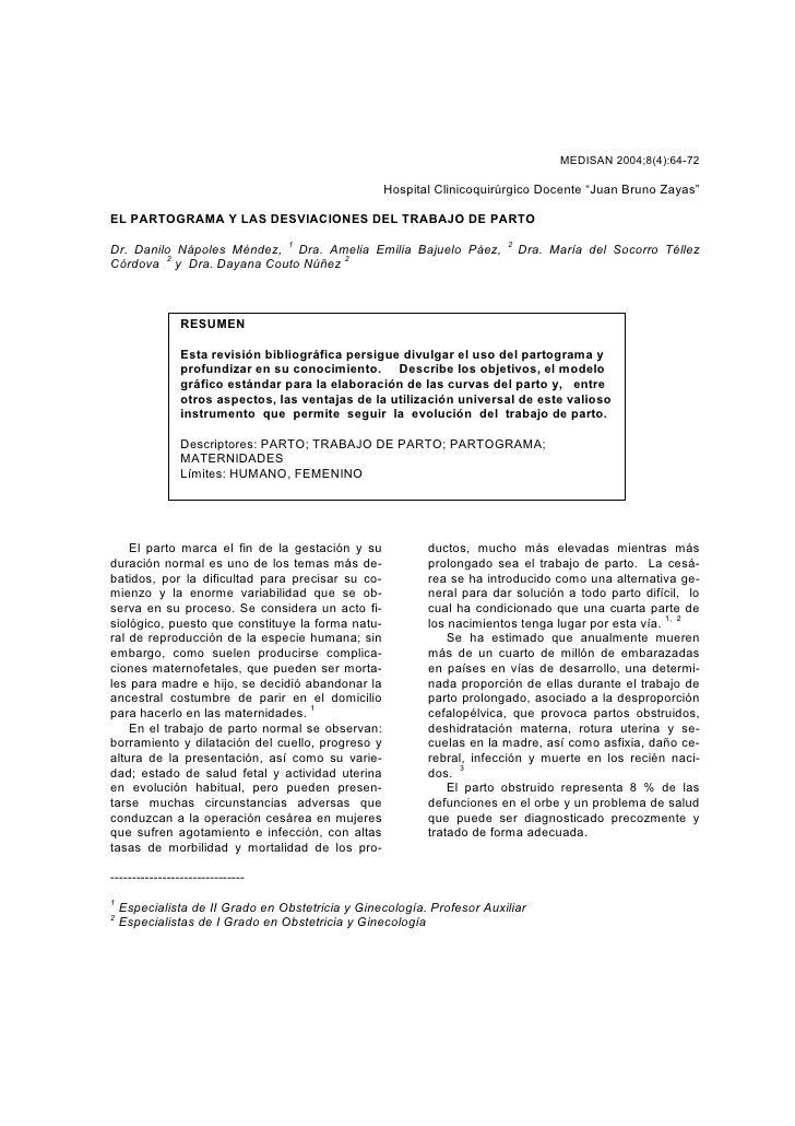 "MEDISAN 2004;8(4):64-72                                                    Hospital Clinicoquirúrgico Docente ""Juan Bruno ..."