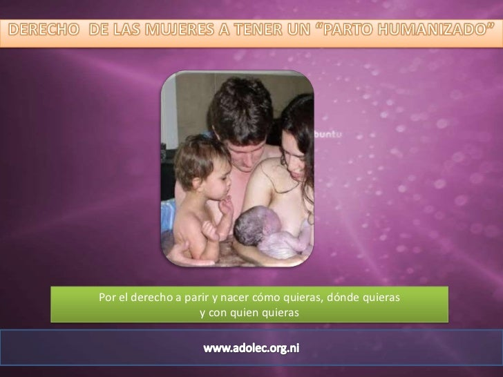 Antropologia del parto humanizado
