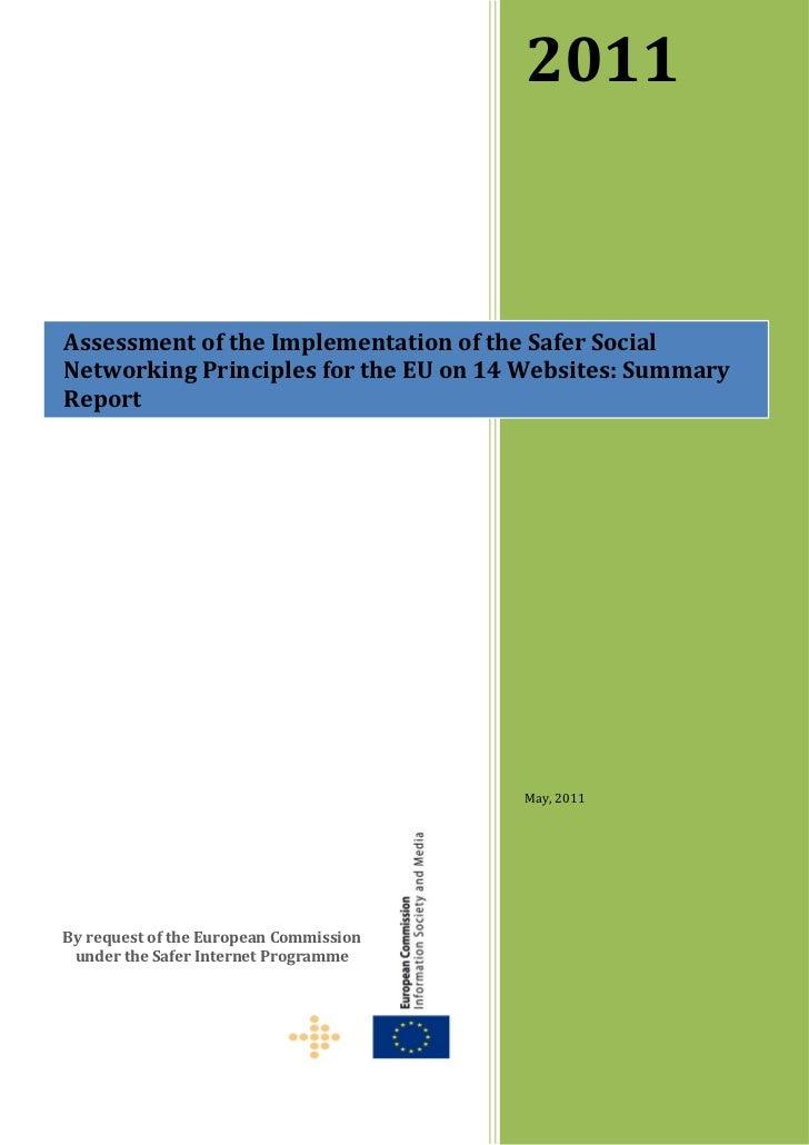 Implementation of the Safer Social Networking Principles for the EU