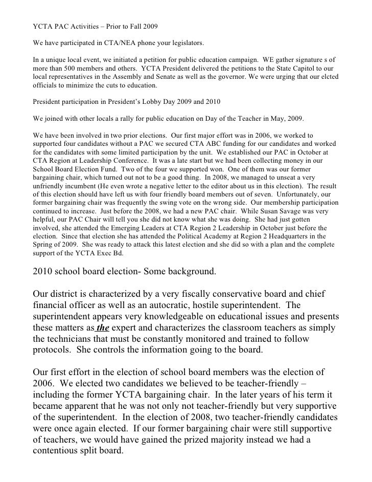 Part one ycta pac 2010