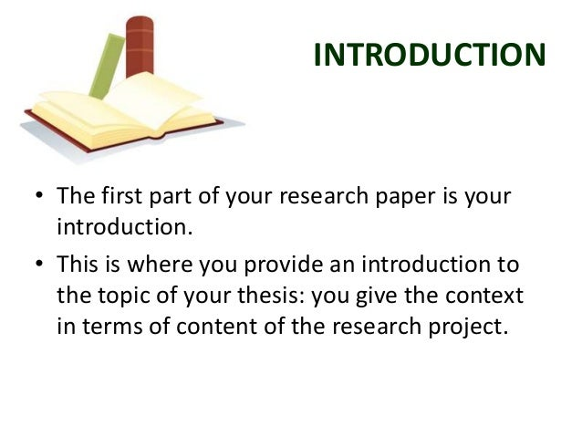 Customary parts of a research paper