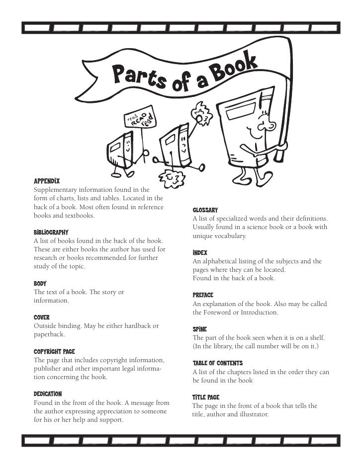 parts of a book Template – Parts of a Book Kindergarten Worksheet
