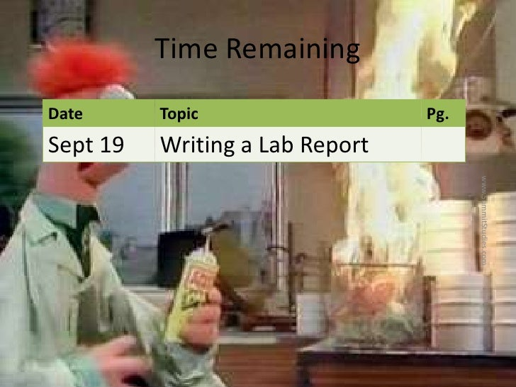 The Parts of a Lab Report