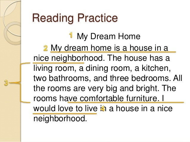 Help in writing essay my dream house