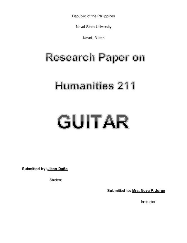 guitar research papers