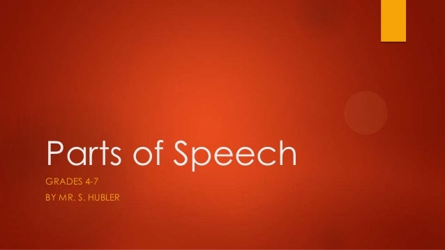 Parts of Speech (8) (Grades 4-7)