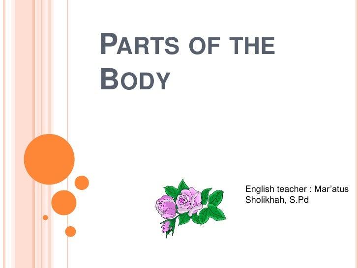 PARTS OF THEBODY         English teacher : Mar'atus         Sholikhah, S.Pd