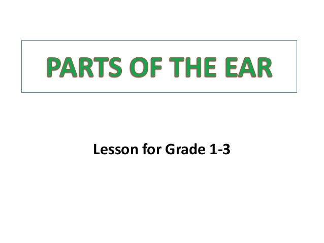 Lesson for Grade 1-3