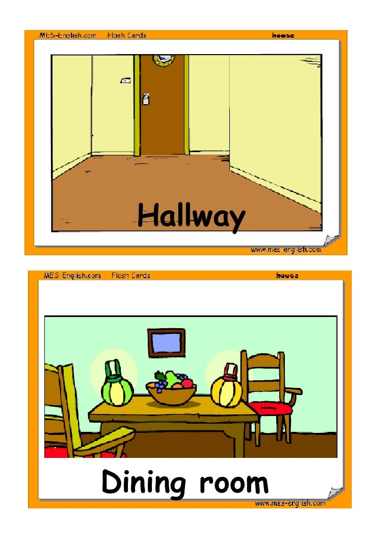 Parts of the house for Dining room vocabulary esl