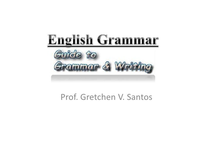 Parts of the sentence i