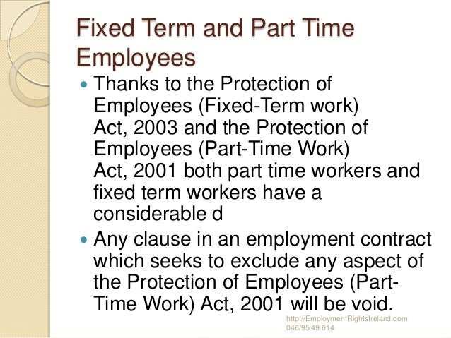 Parttime workers rights / must know ! ?