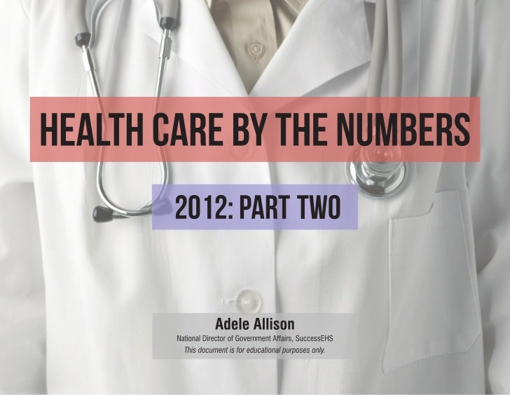 2012 Health Care By the Numbers Part Two