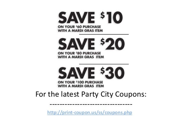 Discount party supply coupon code 2018