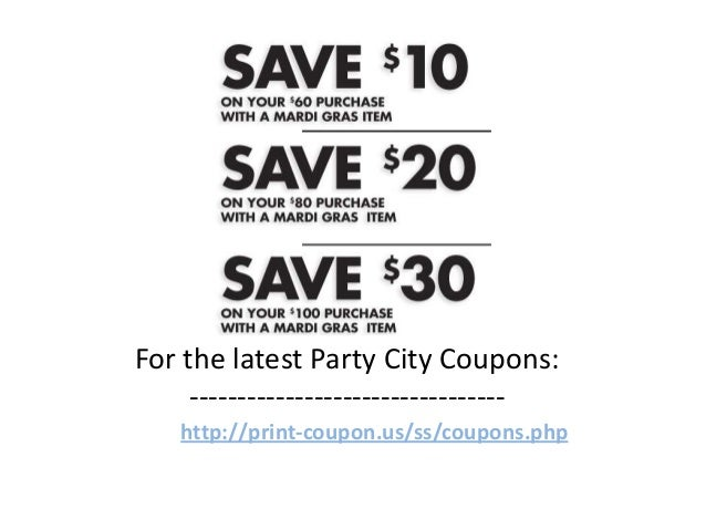 Party city printable coupons august 2018