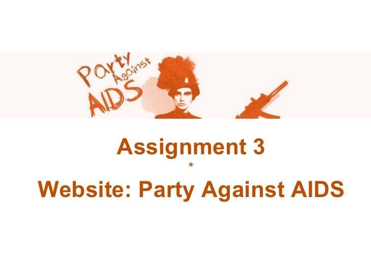Party against aids presentatie