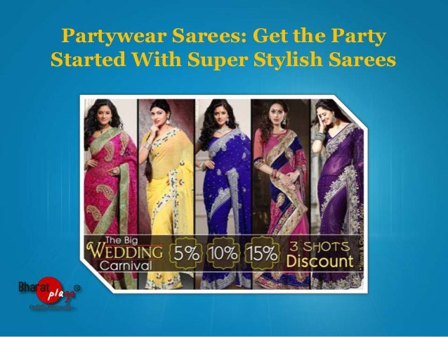 Partywear Sarees: Get the Party Started With Super Stylish Sarees