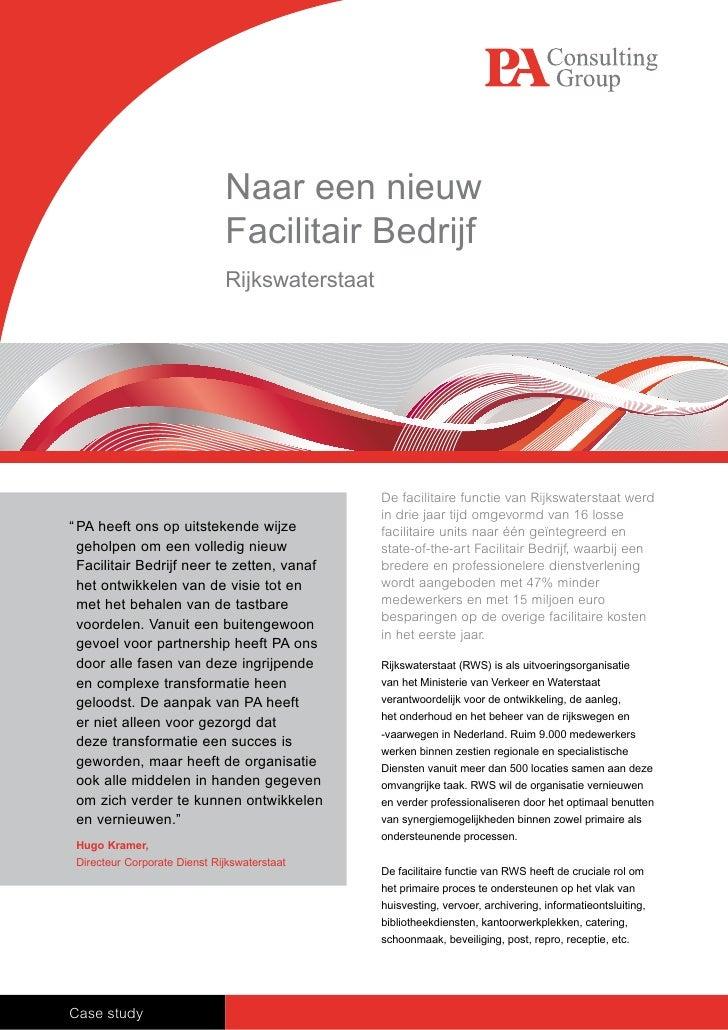 Naar een nieuw                               Facilitair Bedrijf                               Rijkswaterstaat             ...