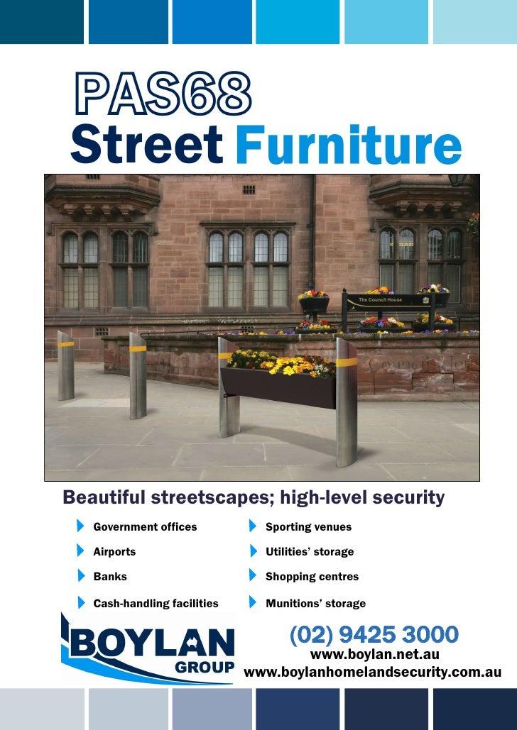 PAS68 Street Furniture