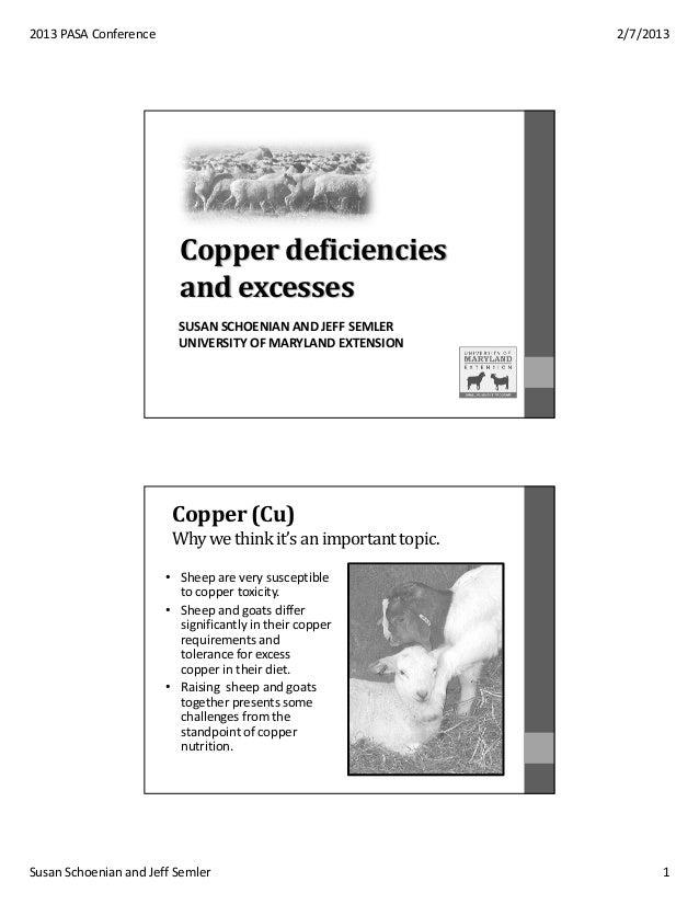2013 PASA Conference                                            2/7/2013                         Copper deficiencies      ...